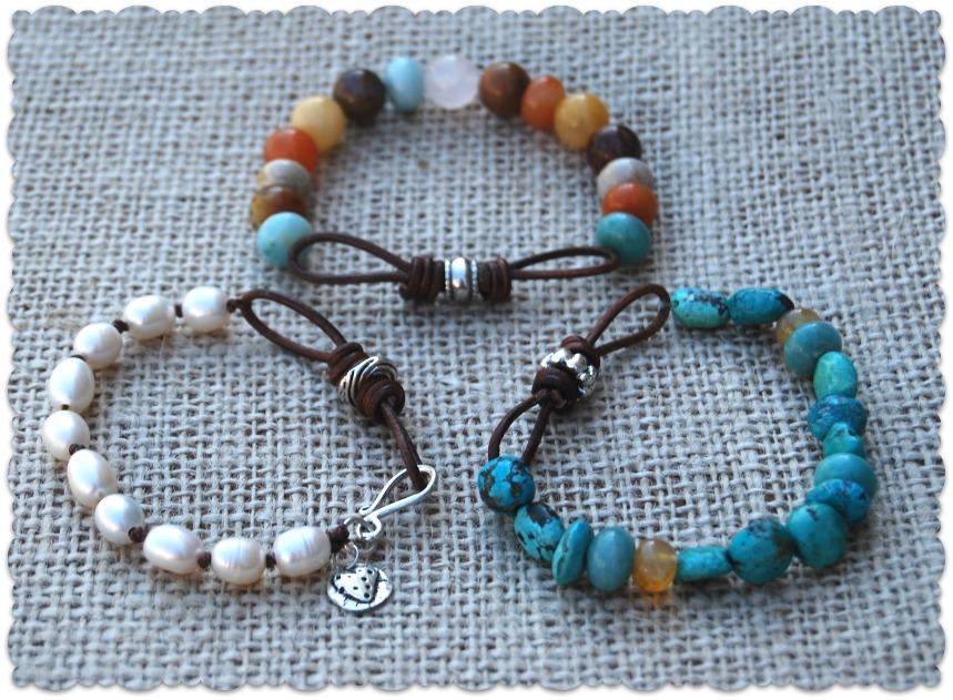 Leather Infinity Link Bracelets2