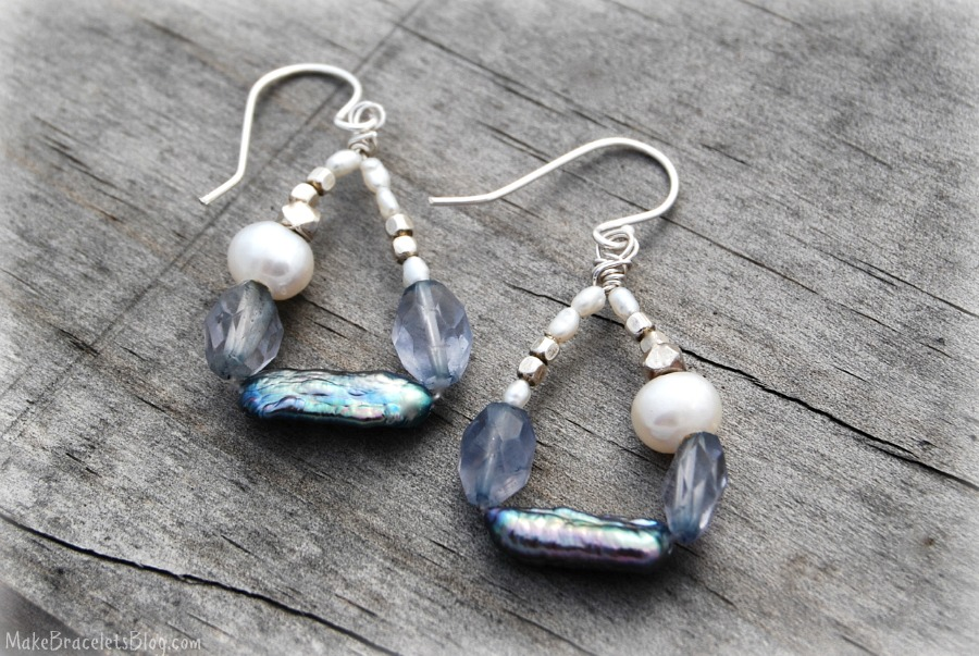 Asymmetric Pearl Earrings2